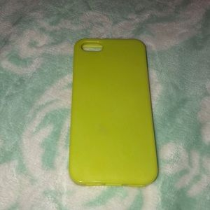 Accessories - iPhone 5S neon yellow phone case